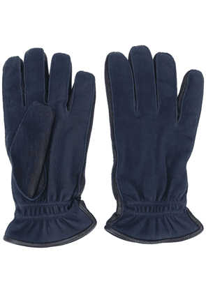 Ermenegildo Zegna leather gloves - Blue