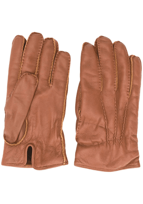 Ermenegildo Zegna cashmere-lined leather gloves - Brown