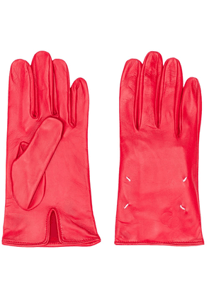 Maison Margiela leather four-stitch gloves - Red