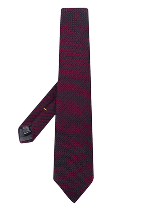 Canali patterned textured scarf - PURPLE