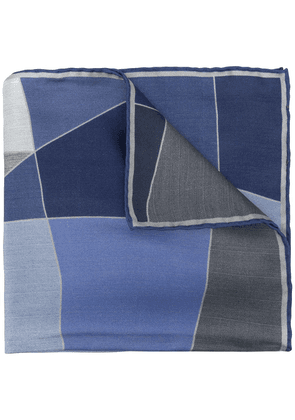 Canali abstract pattern pocket square - Blue