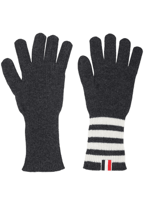 Thom Browne 4-bar Cashmere Gloves - Grey
