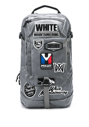 White Mountaineering x Millet buckled backpack - Grey