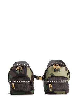 Moschino camouflage dual-compartment backpack vest - Green