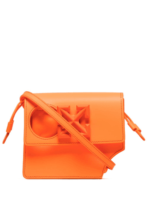 Off-White 0.7 Jitney Hole leather mini bag - ORANGE