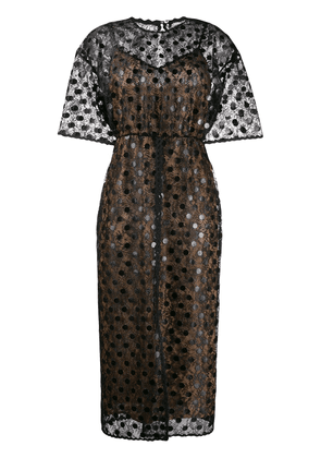 Marco De Vincenzo sheer polka dot dress - Black