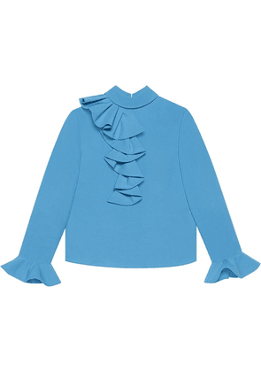 Gucci ruffled bell sleeve blouse - Blue