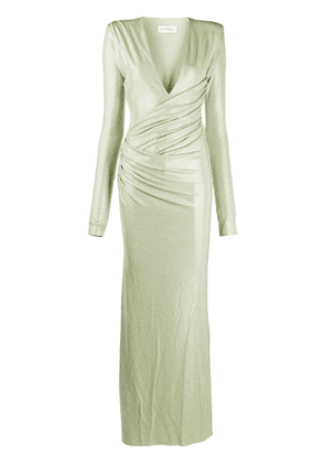 Alexandre Vauthier ruched long-sleeved maxi dress - Green
