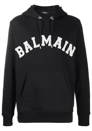 Balmain embroidered logo hoodie - Black