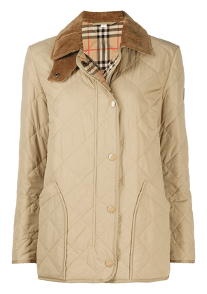 Burberry diamond-quilted barn jacket - Neutrals