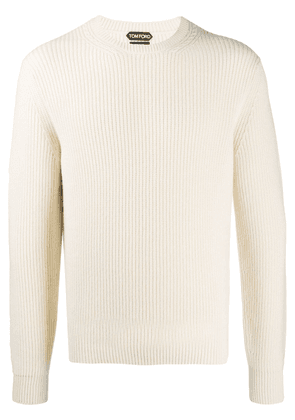 Tom Ford ribbed crew neck jumper - Neutrals