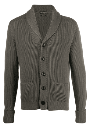 Tom Ford shawl-laped cashmere cardigan - Green