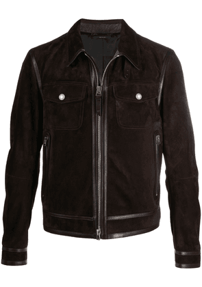 Tom Ford multi-pocket zipped jacket - Brown