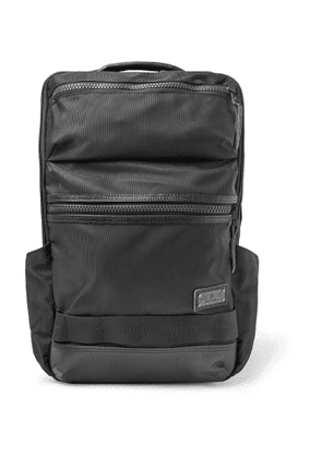 Master-Piece - Leather-Trimmed MASTERTEX-08 Backpack - Men - Black