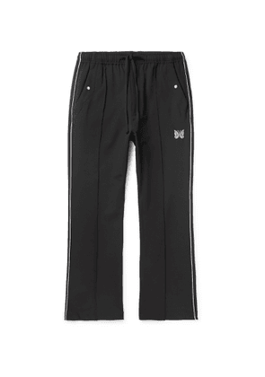 Needles - Logo-Embroidered Piped Twill Track Pants - Men - Black