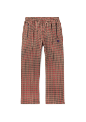 Needles - Logo-Embroidered Houndstooth Jacquard Track Pants - Men - Brown