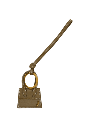 Jacquemus Khaki and Gold Le Porte Cles Chiquito Keychain