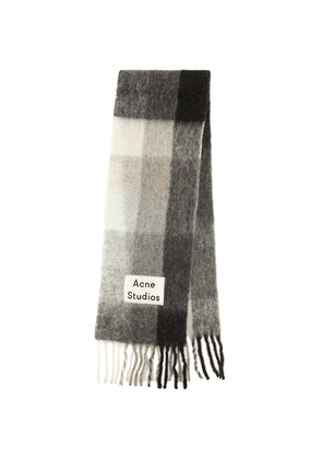 Alpaca, wool and mohair scarf