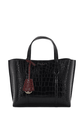 Small Perry Embossed Leather Tote Bag