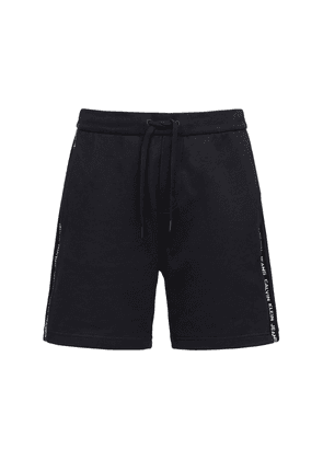 Logo Embroidery Jersey Cotton Shorts