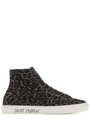 Leo Print High Top Canvas Sneakers