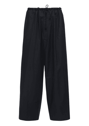 Embroidery Cotton Twill String Pants