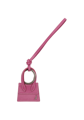 Jacquemus Pink and Gunmetal Le Porte Cles Chiquito Keychain