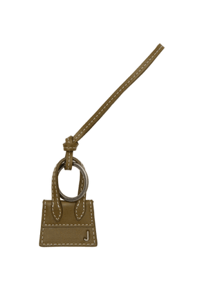 Jacquemus Khaki and Gunmetal Le Porte Cles Chiquito Keychain