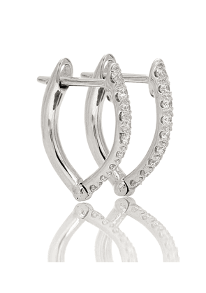 Cristina Small 18kt white gold earrings with diamonds
