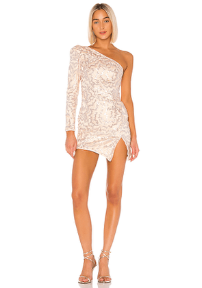 Michael Costello x REVOLVE Fabian Mini Dress in Blush. Size XXS.