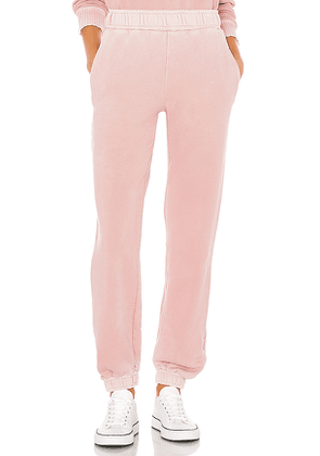 COTTON CITIZEN Brooklyn Sweatpant in Pink. Size M,S,XS.