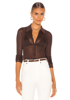 Rag & Bone Pacey Button Down Top in Brown. Size M,S,XS.