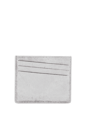 Maison Margiela - Bar-tack Painted-suede Cardholder - Mens - White