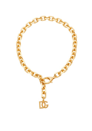 Dolce & Gabbana - Dg-charm Chain Necklace - Womens - Gold