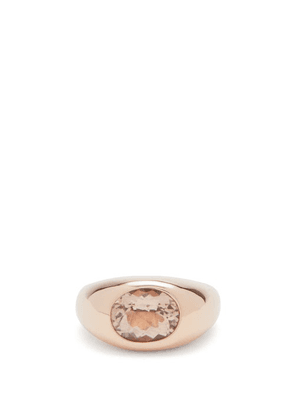 Jacquie Aiche - Dome Morganite & 14kt Rose Gold Ring - Womens - Gold