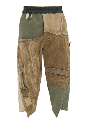 By Walid - Artem Deconstructed Upcycled Cotton Trousers - Mens - Green