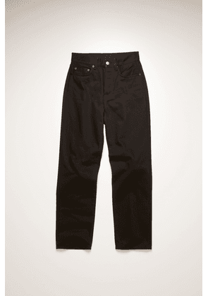 Acne Studios Mece Forever Black Stay black Cropped straight-leg jeans