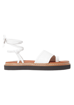3.1 Phillip Lim Yasmine Lace-up Leather Sandals Woman White Size 36