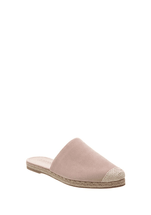 Light Pink Suede Espadrilles