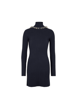 Dion Lee Lustrate Navy Chain-embellished Mini Dress