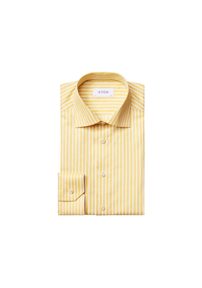 Eton Contemporary Fit Yellow Bengal Striped Twill Shirt