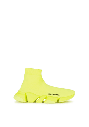 Balenciaga Speed 2.0 Neon Yellow Stretch-knit Sneakers