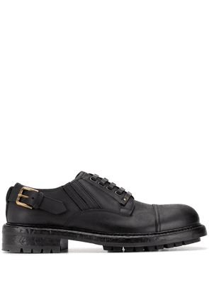 Dolce & Gabbana leather buckle Derby shoes - Black