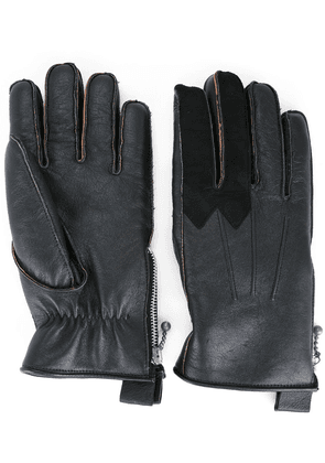 Addict Clothes Japan fur lined gloves - Black