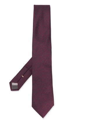 Canali all-over pattern tie - Red