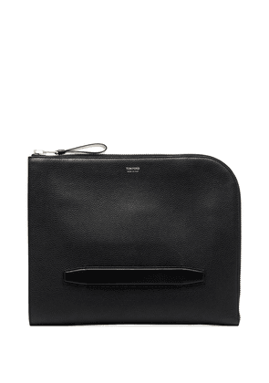 Tom Ford zip-fastening leather briefcase - Black