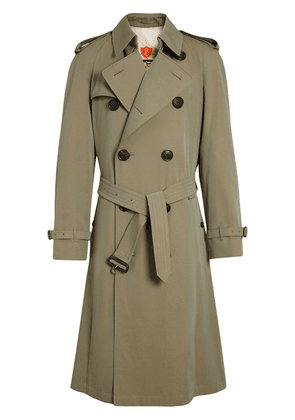 Burberry Tropical Gabardine Oversized Trench Coat - Green