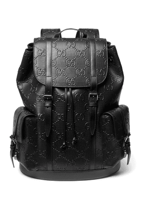 Gucci - Logo-Embossed Leather Backpack - Men - Black
