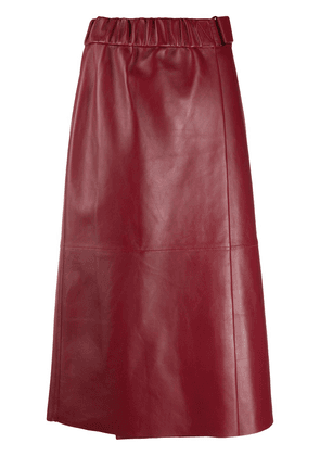 Acne Studios leather A-line skirt - Red