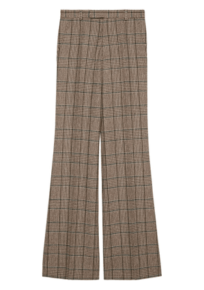 Gucci Prince of Wales flared trousers - Brown